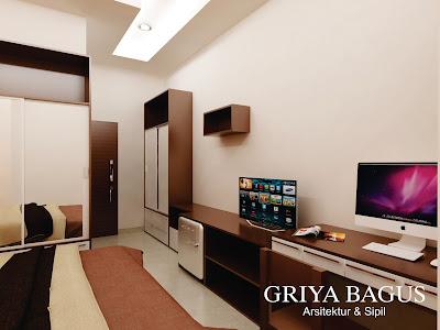 Desain Interior 3D Kamar Kos Jakarta Kamar C Hadap Samping View 3