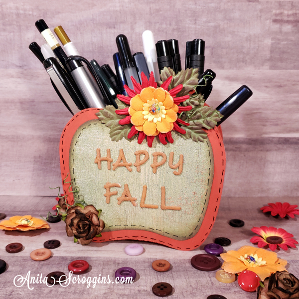 Happy Fall Pencil Holder