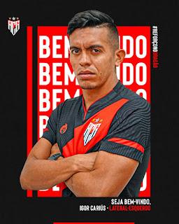Atlético anuncia a contratação do lateral esquerdo Igor Cariús