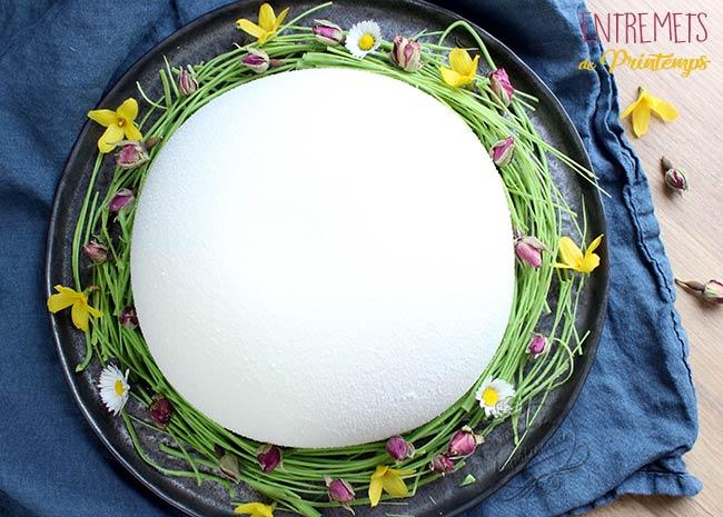 recette entremets demi-sphère blanc