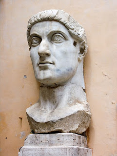 A bust of Constantine I - originally from a statue - in Rome's Capitoline Museum
