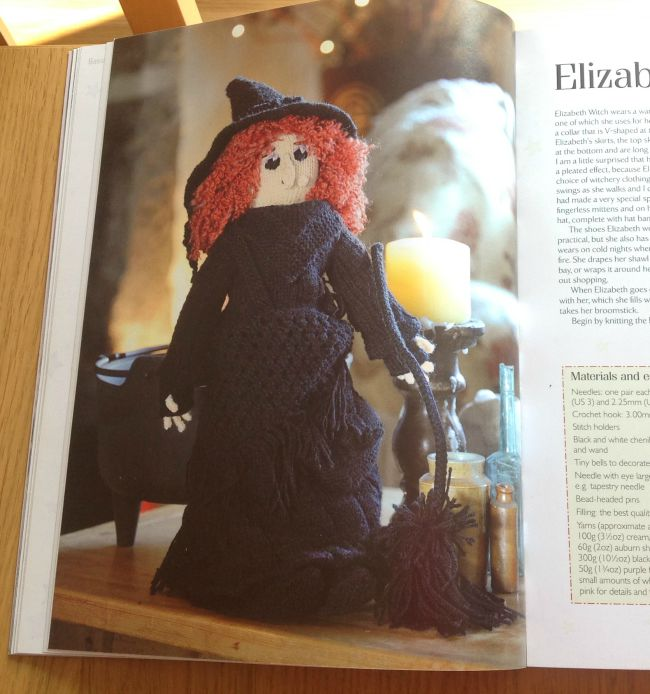 picture of knitted witch doll