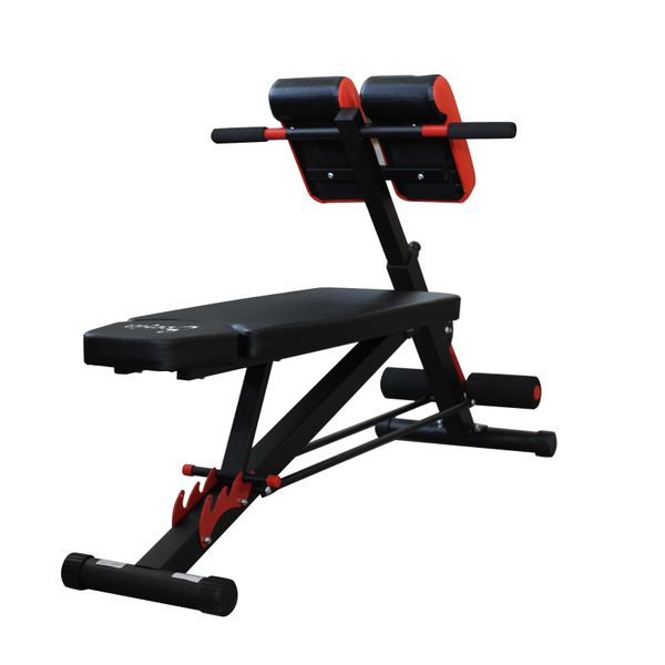 Soozier Adjustable Hyper Extension Bench Dumbbell Weight Ab Multifunction Workout Press