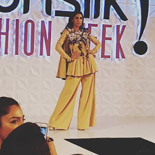 PFDC Sunsilk Fashion Week 2017 Yellow Evening Dress