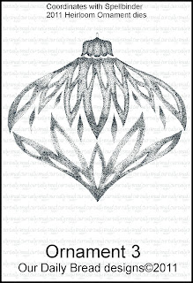 Our Daily Bread Designs - Stamps Ornament 3 Single