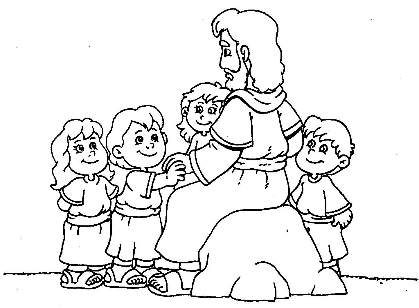Desenhos Das Criancas E Jesus Para Colorir