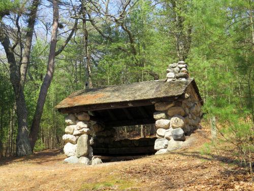 CCC stone shelter Ludington State Park