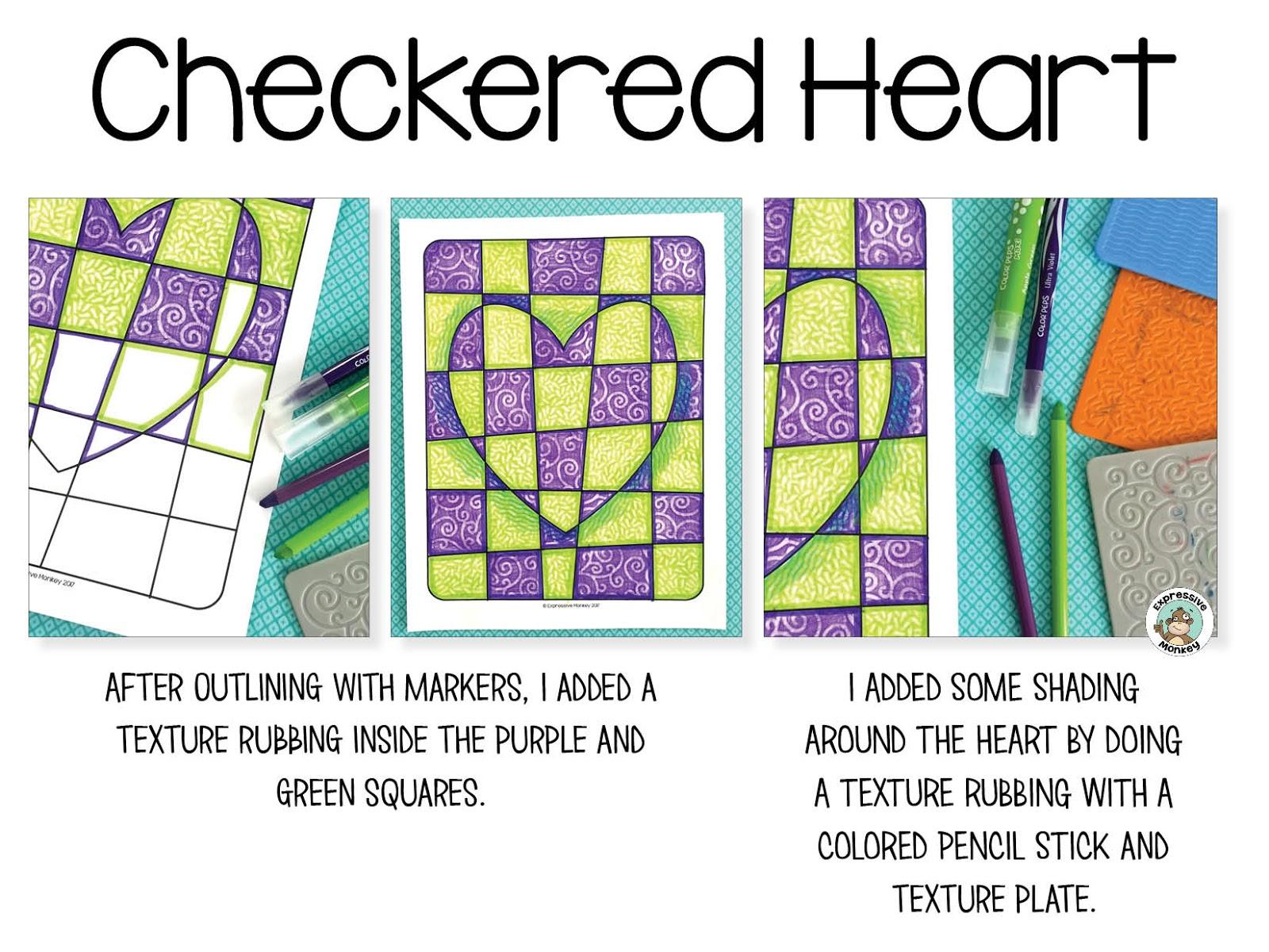 Op Art Heart Techniques