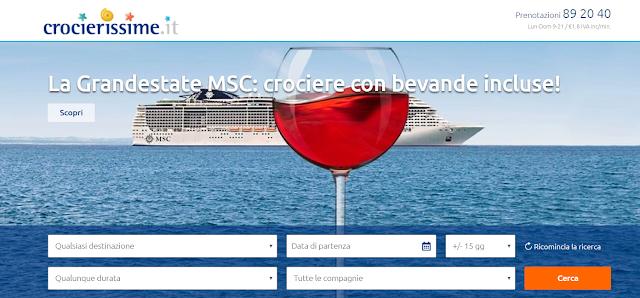 Parti in Crociera questa estate con le offerte Bevande Incluse di MSC!!