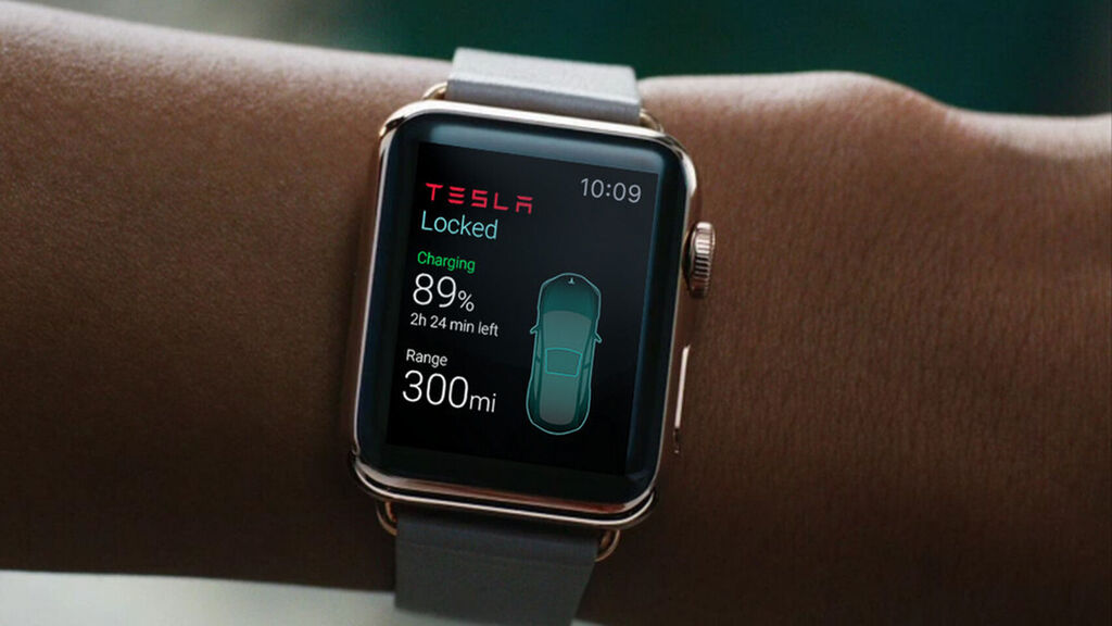 app Tesla en apple watch
