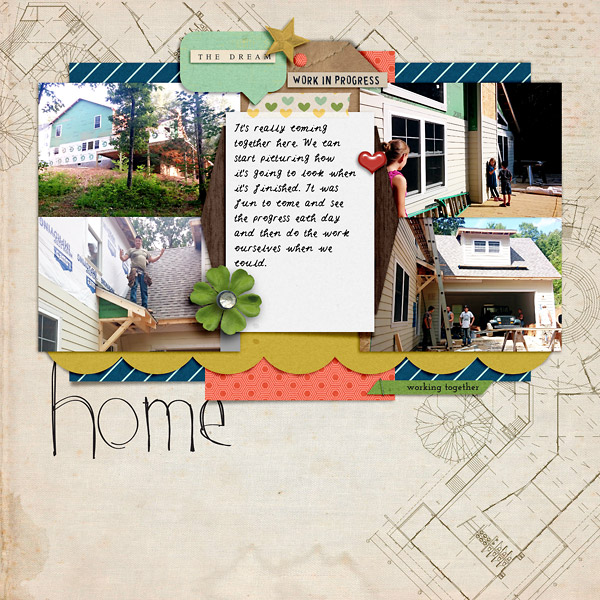Scrapbook Page of Our House Being Built