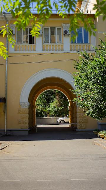 Волгоград арка фасад советская архитектура