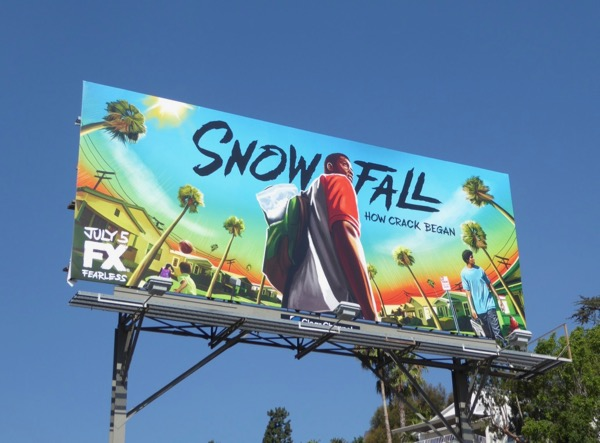 Snowfall series premiere billboard