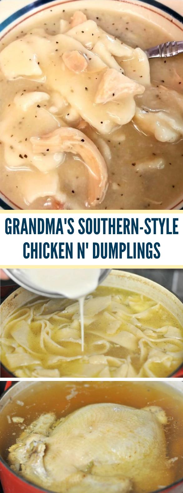 Grandma's Southern-Style Chicken n' Dumplings #dinner #comfortfood