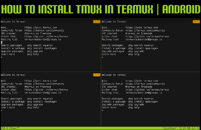 How to Install tmux in termux