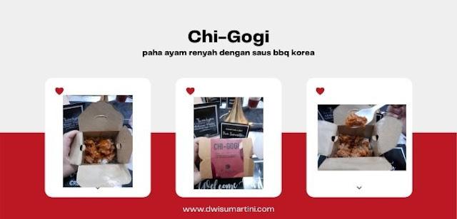 Chi-gogi menu baru essence Jogja