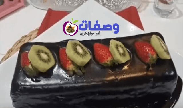 كيكة الشيكولاتة  بكوب دقيق فاطمه ابو حاتي