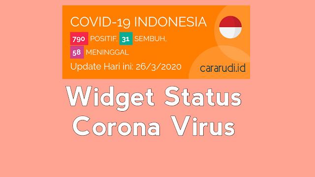 Cara Pasang Widget Virus Corona di Blog