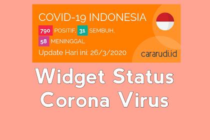 Cara Memasang Widget Status Virus Corona di Blog (Update)