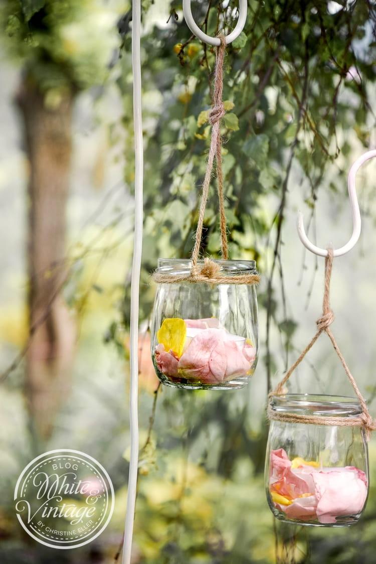 DIY-Gartendeko aus Darbogläschen