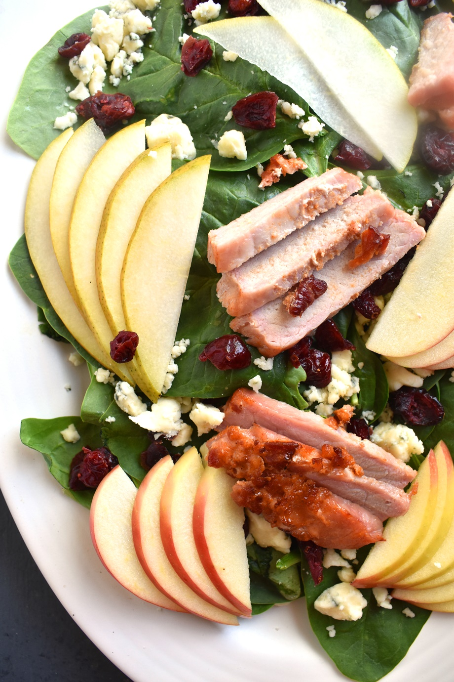 pork and pear salad