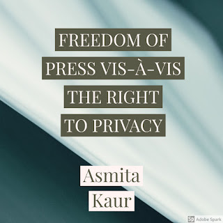 FREEDOM OF PRESS VIS-À-VIS THE RIGHT TO PRIVACY