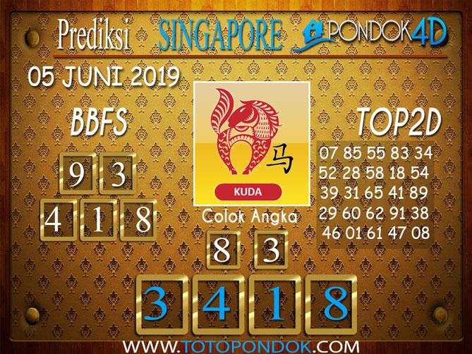 Prediksi Togel SINGAPORE PONDOK4D 05 JUNI 2019