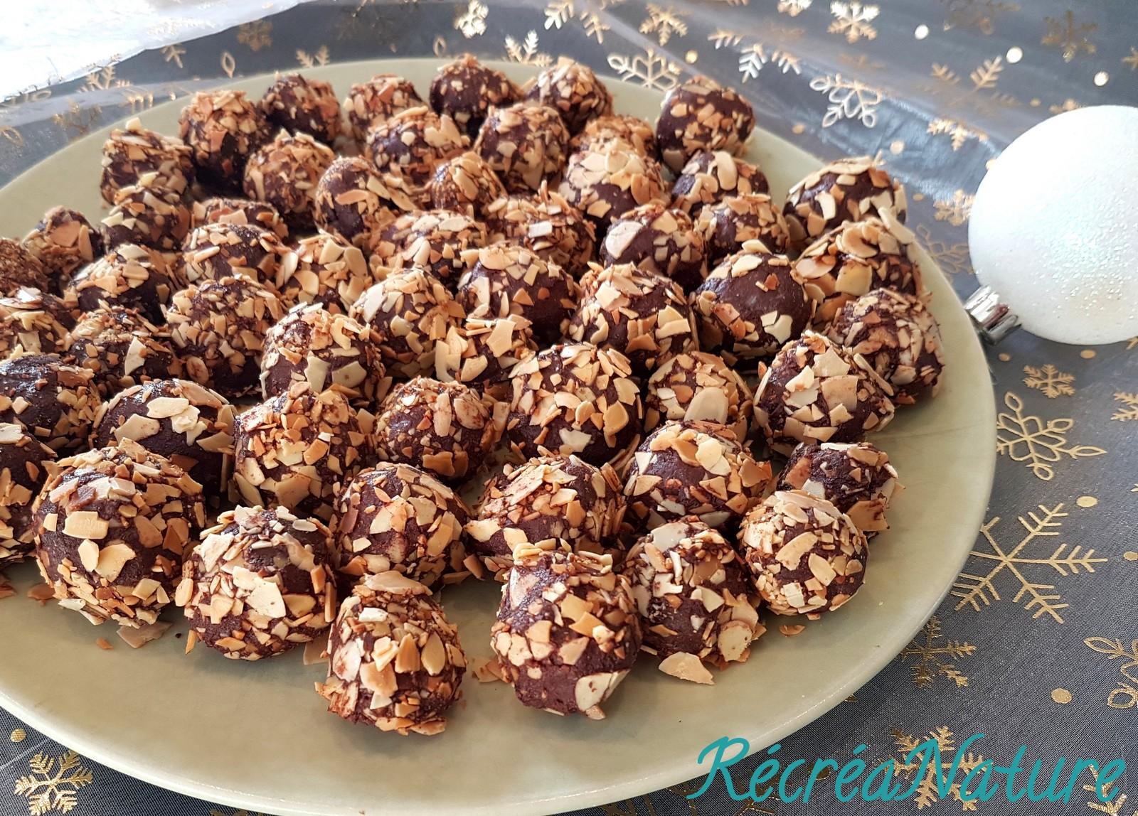 Truffes Au Chocolat Coco Amande Amere Noel Vegan Recette Facile
