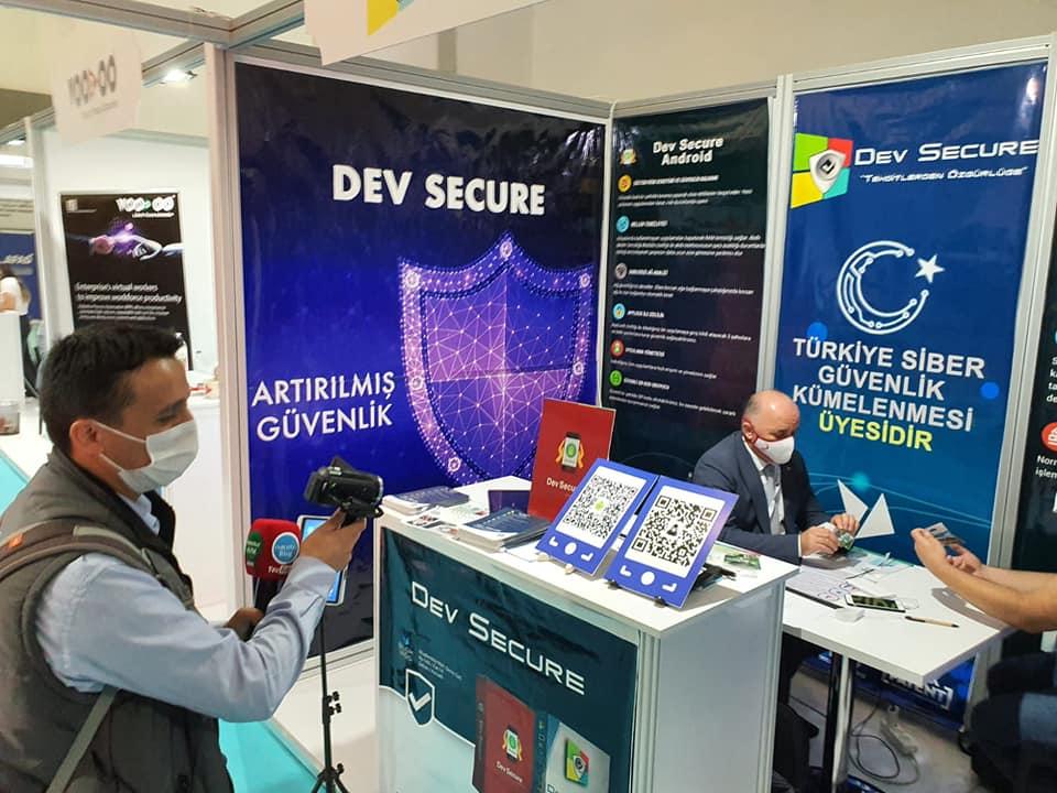 Yerli Antivirüs programı Dev Secure Verimlilik ve Teknoloji fuarında, isacotur avm