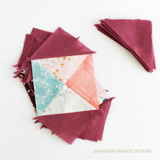 Hourglass Quilt Blocks | Shannon Fraser Designs | Playground Fabrics by Amy Sinibaldi for Art Gallery Fabrics | Kaffe Fasset Shot Cotton | Modern Patchwork | Modern Quilt
