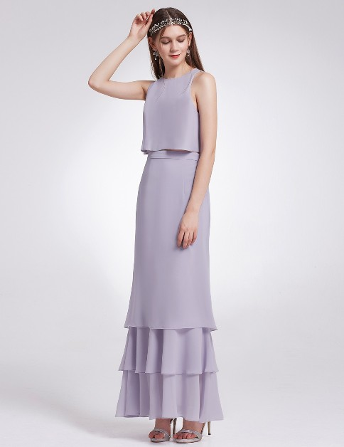 Two Piece Maxi Skirt and Top Bridesmaid Set (Price:$49.99)