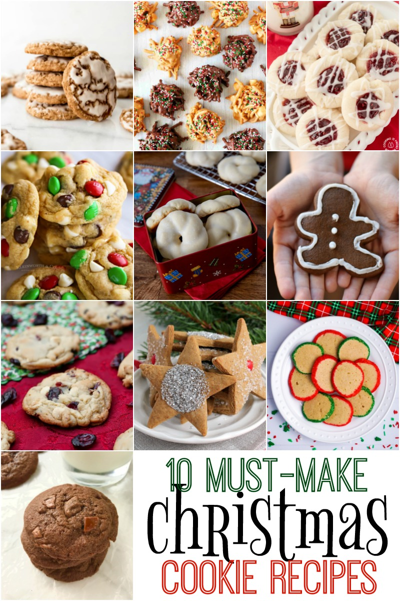 10 Must Make Christmas Cookie Recipes | The Two Bite Club | #Christmas #cookies