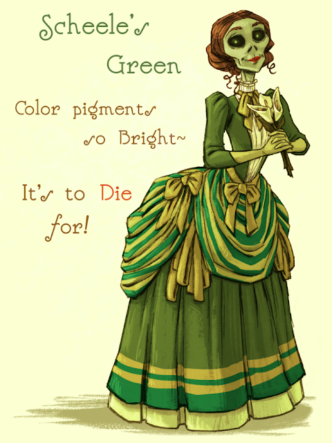 Scheele's Green - Color pigments so bright - It's to Die for!