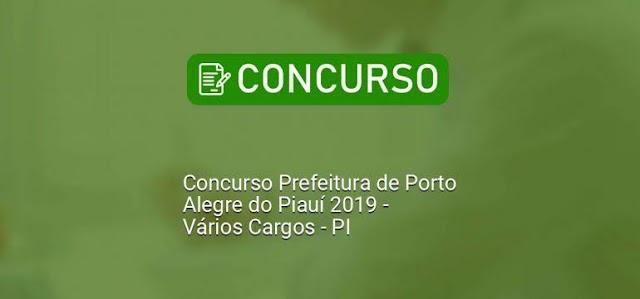 Porto Alegre do Piauí: Prefeitura Municipal divulga edital de concurso púbico com vagas para nível fundamental, médio e superior