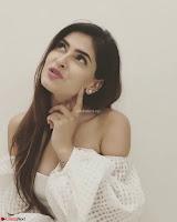 Karishma Sharma Deep neck White Gown Beautiful Pics ~  Exclusive 017.jpg