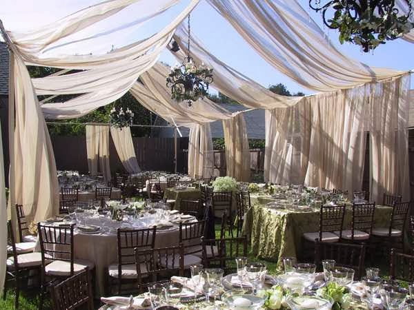 Backyard Wedding Decor photo