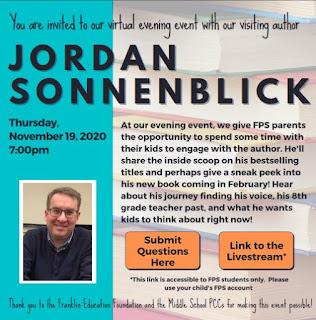 Franklin Public Schools, MA: Jordan Sonnenblick - Nov 19