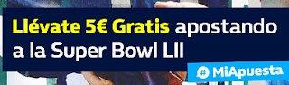 william hill promocion Super Bowl Patriots vs Eagles 5 febrero