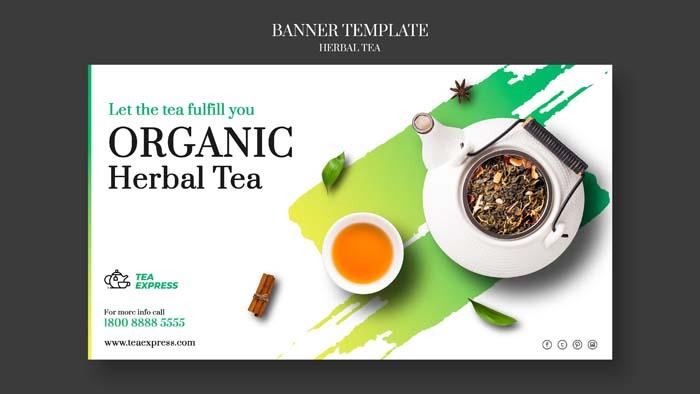 Herbal Tea Banner Template