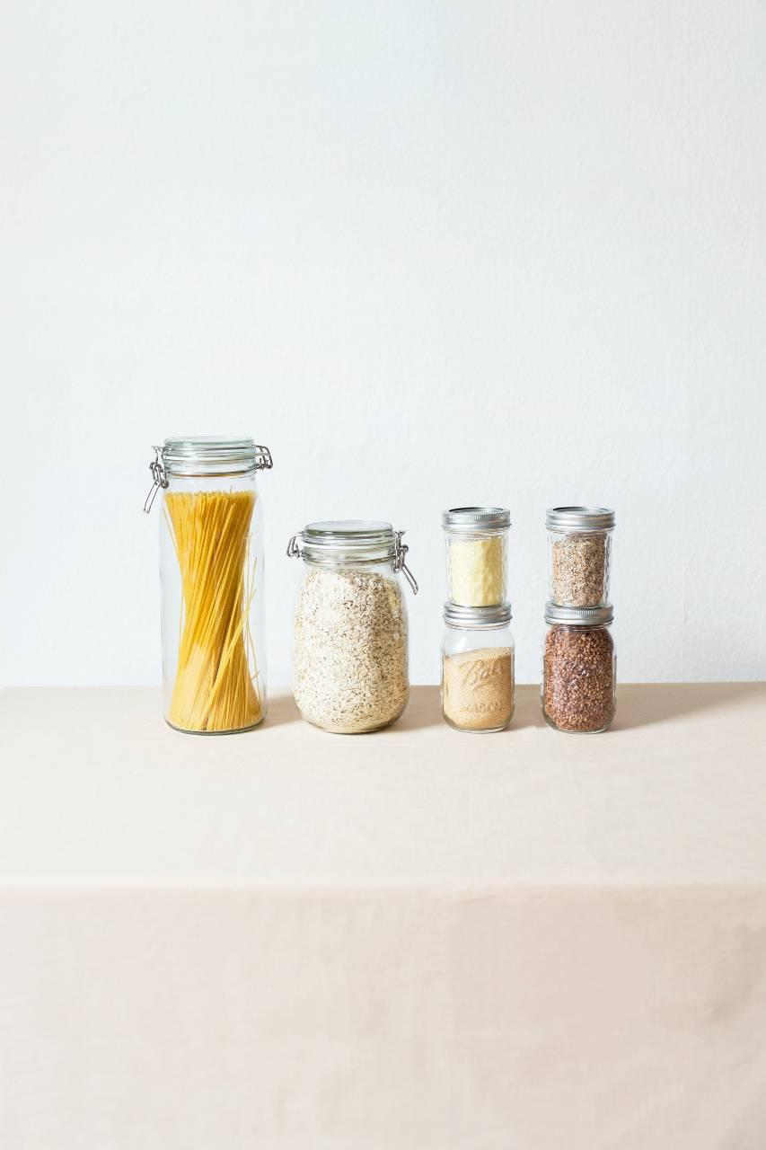 Botes de vidrio para alimentos zero waste.