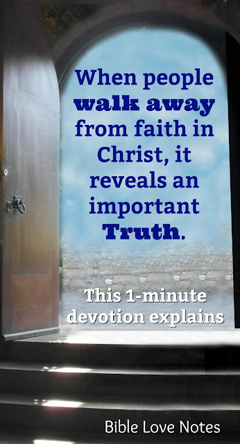 People who fall away usually blame churches, pastors, or parents for their loss of faith. This 1-minute devotion offers the scriptural reason for falling away. #JoshHarris #FallingAway #Devotions #BibleLoveNotes #Bible