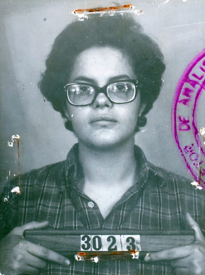 30 Pictures Of World Leaders In Their Youth That Will Leave You Speechless - Mugshot Of Brazilian President Dilma Rousseff In 1970