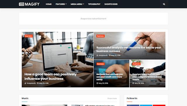 Magify Blogger Teması
