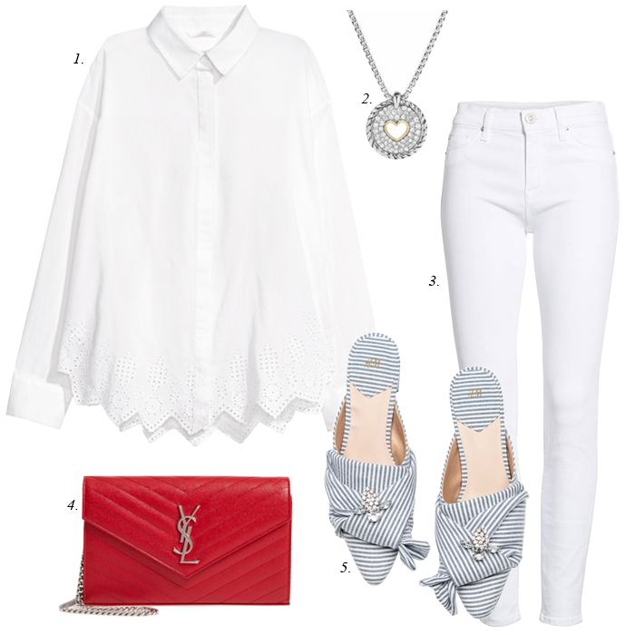spring outfit in white