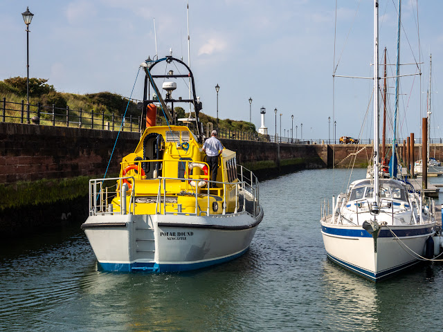 Photo of Polar Bound heading for the marina gate and the Solway Firth