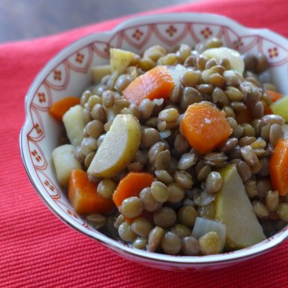 Lentil, Potato and Carrot Salad