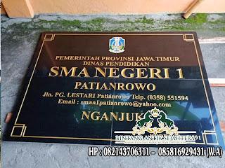 Papan Nama Daerah Granit, Prasasti Nameboard Bahan Granit