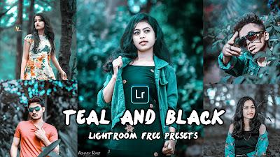 Teal and black lightroom presets