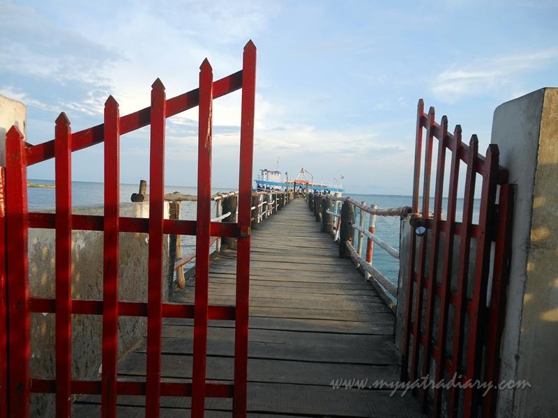 Gate for the Sunset Boat ride in Rameswaram, Tamil Nadu