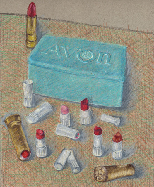 Colored Pencil drawing -- Avon lipstick samples